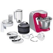 Кухонный комбайн Bosch MUM58420 рубиновый/серебристый