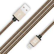 Дата-кабель XtremeMac Premium Lightning to USB Оплетка из нейлона 2м золотой