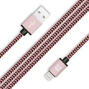Дата-кабель XtremeMac Premium Lightning to USB Оплетка сделана из нейлона 1,2м розовое золото
