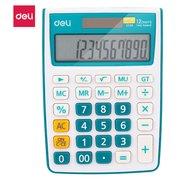 Калькулятор настольный Deli E1238/Blue синий