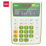 Калькулятор настольный Deli E1238/GRN зеленый