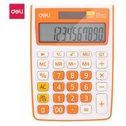 Калькулятор настольный Deli E1238/OR оранжевый