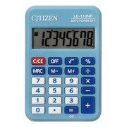 Калькулятор карманный Citizen Cool4School LC-110NRBL голубой