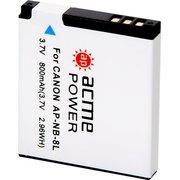 Аккумулятор для компактных камер AcmePower AP-NB-8L для Canon PowerShot A2200/A3000IS/A3100IS/A3200IS/A3300IS