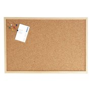 Демонстрационная доска Hebel Maul Weiss 2706170 пробковая 60x100см деревянная рама