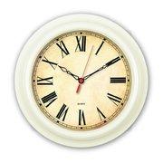 Часы настенные Бюрократ WallC-R74P D21см слоновая кость