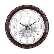 Часы настенные Бюрократ WallC-R63P D29см коричневый
