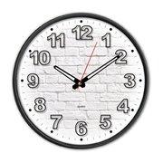 Часы настенные Бюрократ WallC-R71P D29см черный