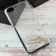 Силиконовая накладка iPhone 7 с Чёрной зеркальной рамкой