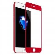 Защитное стекло Full glass 4D для Apple iPhone 7/8 /техпак/ красный