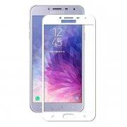 Защитное стекло 5D Full Glass /клеится на полный экран, для Samsung J4 (2018) белый