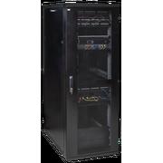 """Шкаф серверный ITK LINEA S LS05-42U81-PP-3 19"""" 42U 800х1000мм перф. передняя и задняя двери черный (место 3 из 3)"""