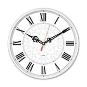 Часы настенные Бюрократ WallC-R70P D25см белый