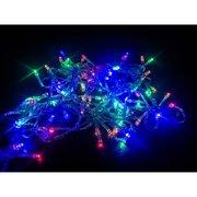 Гирлянда с небьющимися лампами прозрачный шнур 180L 16м, цветной