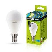 Лампочка светодиодная Ergolux LED-G45-11W-E14-4K