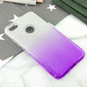 Чехол-накладка для Xiaomi Redmi Note 5А Prime (32 и 64GB), Омбре с блестками (Violet)