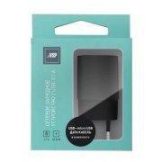 Сетевое зарядное устройство BoraSCO 2 USB, 2,1A + Дата-кабель micro USB, 1м, черный
