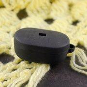 Чехол силиконовый с карабином для AirDods/AirDots 2 Black (2)