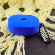 Чехол силиконовый с карабином для AirDods/AirDots 2 Bright Blue (7)