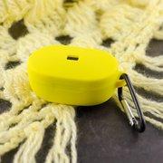 Чехол силиконовый с карабином для AirDods/AirDots 2 Yellow (12)