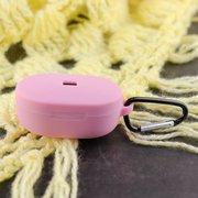 Чехол силиконовый с карабином для AirDods/AirDots 2 Pink (14)