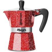 Кофеварка Bialetti Aeternum Allegra 0.12л алюминий красный (6014)