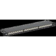 Патч-панель ITK PP24-D05UC6AS-D05H 0,5U кат.6A STP 24 порта экранированная (Dual IDC) высокой плотности