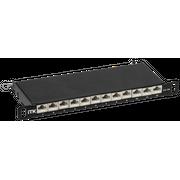 "Патч-панель ITK PP12-D05UC6AS-D05-10 0,5U кат.6A STP 12 портов 10"" (Dual IDC)"