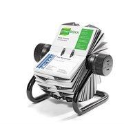 Визитница настольная Durable Visifix 2481-23 104х72мм (400 визиток) вклад.:200шт. серебристый