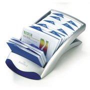 Визитница настольная Durable Visifix Desk 2413-23 (200 визиток) вклад.:100шт. пластик серебристый