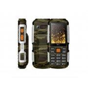 Мобильный телефон BQ BQM-2430 Tank Power камуфляж/серебро