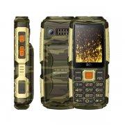 Мобильный телефон BQ BQM-2430 Tank Power камуфляж/золото