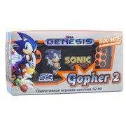 """Игровая приставка SEGA Genesis Gopher 2 LCD 4.3"""", +500 игр (оранжевая)"""