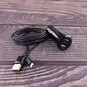 АЗУ TEC Quantum Duo (TEC-8694470546940) 3.4A+кабель 8pin MFI black