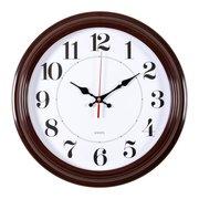 Часы настенные Бюрократ WALLC-R85P D35см коричневый/белый