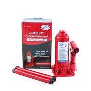 Домкрат AutoVirazh AV-072403 3т бутылочный в кейсе (красный)