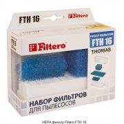 Фильтр HEPA Filtero FTH 16 для пылесосов Thomas (Twin Aquafilter, TT Aquafilter, Genius Aquafilter, Syntho)