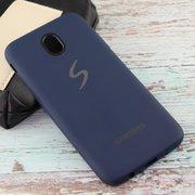 Чехол Silicone case для Samsung J530 синий