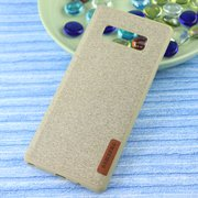 Чехол-накладка Original /силикон.джинс,иск.кожа/ для Samsung Note 8 золото