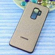 Чехол-накладка Original /силикон.джинс,иск.кожа/ для Samsung S9-plus золото