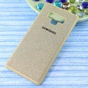 Чехол-накладка Original /силикон.джинс,иск.кожа/ для Samsung Note 9 (2018) золото