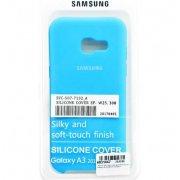 Чехол Silicone case для Samsung Galaxy A3 (2017) голубой