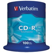 Диск CD-R Verbatim 700Mb 52x DataLife Cake Box (100шт) 43411
