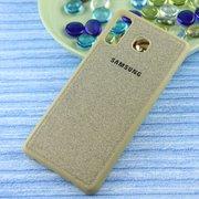 Чехол-накладка Original /силикон.джинс,иск.кожа/ для Samsung A8 STAR/A9 STAR (2018) золото