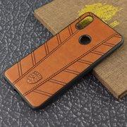 Чехол Remax силикон+кожа redmi 6X коричневый