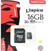 Карта памяти Kingston microSDHC 16GB Class 10 UHS-I U1 Canvas Select (SD адаптер) 80MB/s