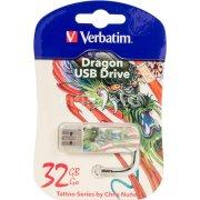 USB-флешка 32G USB 2.0 Verbatim Mini Tattoo Edition Dragon (49899)