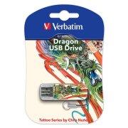 USB-флешка 16G USB 2.0 Verbatim Mini Tattoo Edition Dragon (49888)