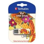 USB-флешка 16G USB 2.0 Verbatim Mini Tattoo Edition Koi Fish (Carp Fish) (49886)