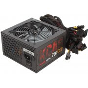 Блок питания Aerocool KCAS-750G 80+ gold ATX 750W (24+4+4pin) APFC 120mm fan red LED 7xSata RTL